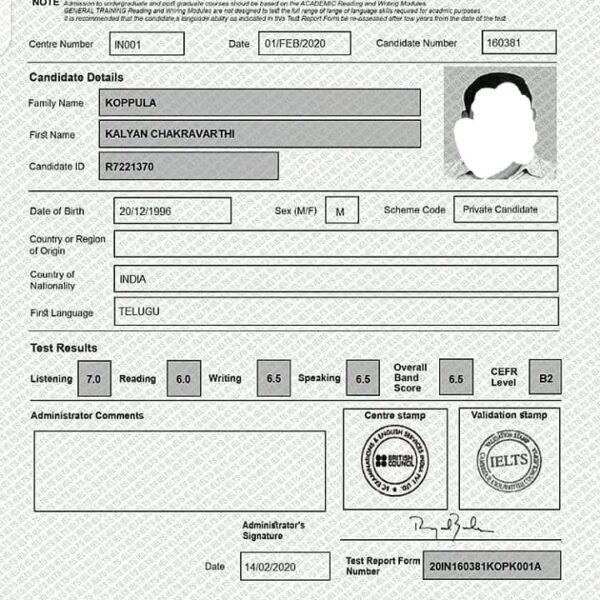 buy registered ielts online