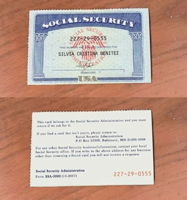 fake ssn card for sale